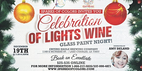 A Celebration of Lights Wine Glass Paint Night   tickets