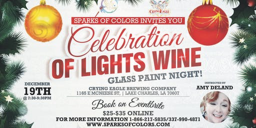 A Celebration of Lights Wine Glass Paint Night