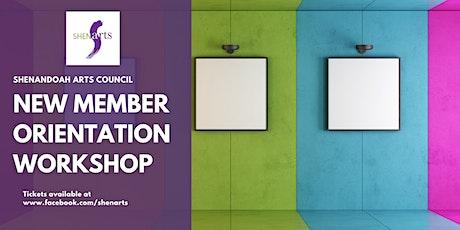 New Member Orientation Workshop tickets