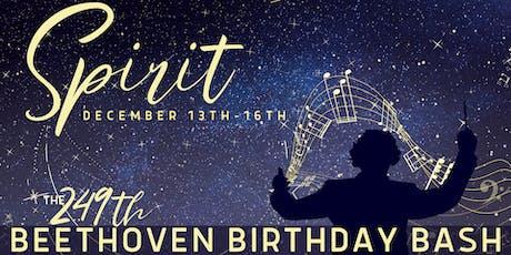 SPIRIT: The 249th Beethoven Birthday Bash tickets