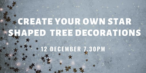 Create your own star shaped tree decorations