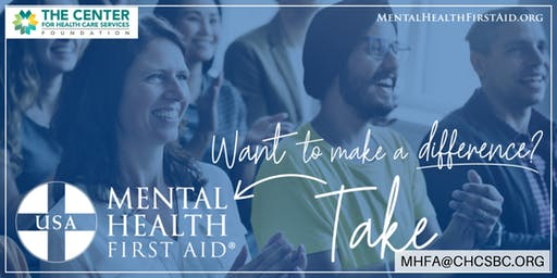 Adult Mental Health First Aid Certification (Alamo Colleges)