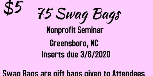 Vendors Wanted for Swag Bags