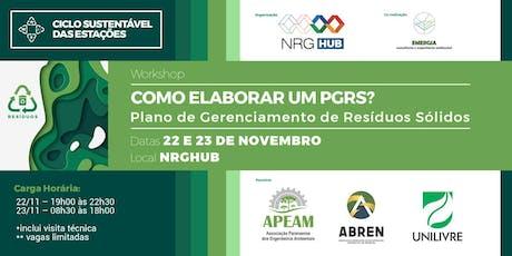 Workshop - Plano de Gerenciamento de Resíduos Sólidos ingressos