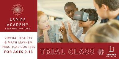 Virtual Reality & Math Mayhem Trial Classes | Aspire Academy CT