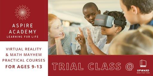 Virtual Reality & Math Mayhem Trial Classes   Aspire Academy CT
