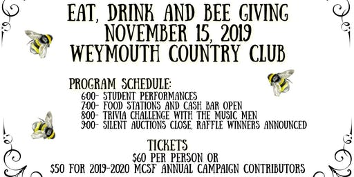 Eat, Drink & BEE Giving- MCSF's Fall Fundraiser