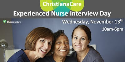 ChristianaCare Experienced Nurse Interview Day