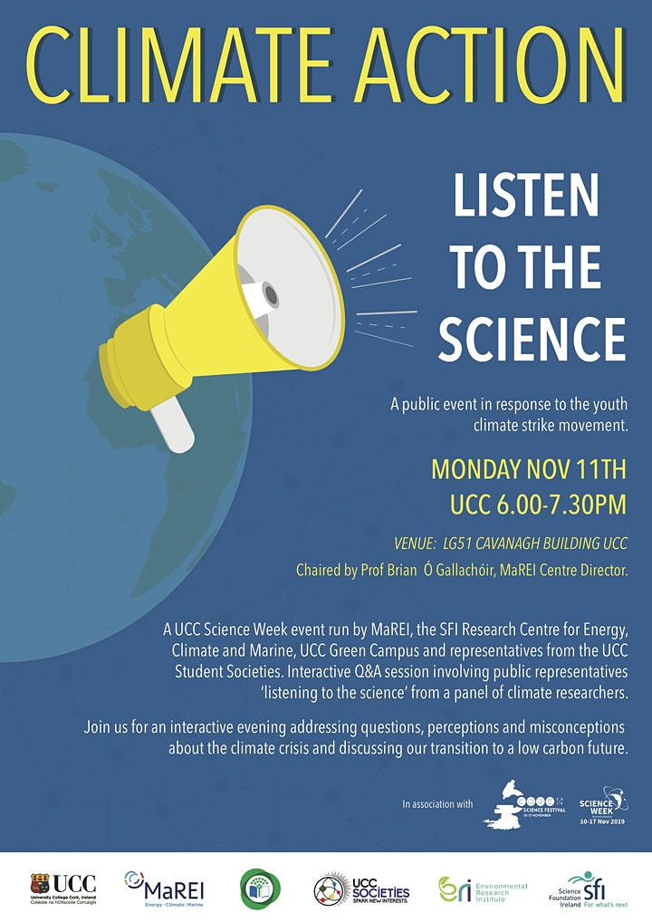 Climate Action - Listen to the Science image