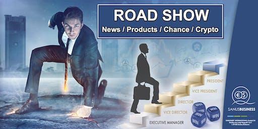 """ROAD SHOW: """"Eine Geschäftsgelegenheit geht um die Welt"""""""