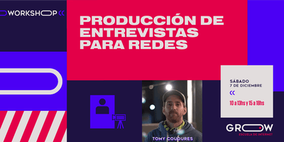 Workshop: Producción de entrevistas para redes