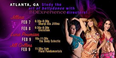 Jillina's BDEx Presents: Atlanta, GA Workshops with Jillina, Jill & Luna
