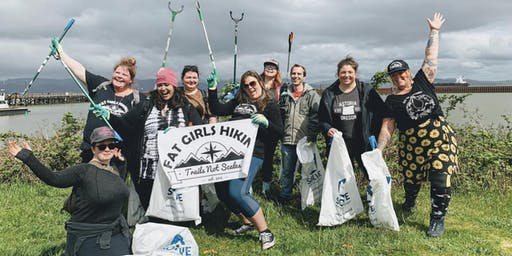 Fat Girls Hiking, Portland:  Tickle Creek Clean Up with Solve