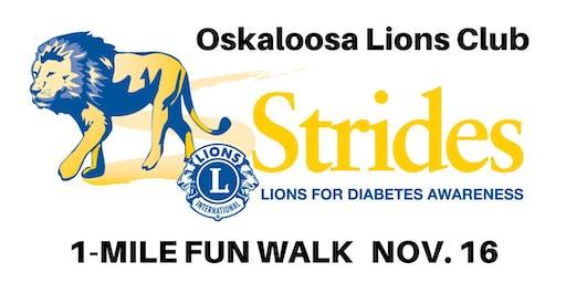 Oskaloosa Lions Club Strides for Diabetes Walk
