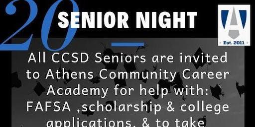 Athens Community Career Academy Senior Night