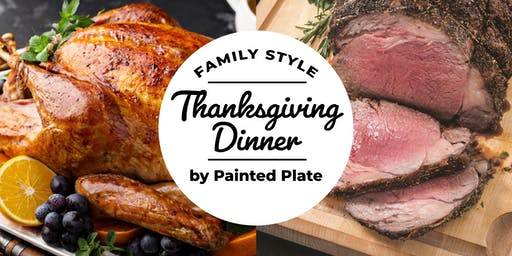 Family Style Thanksgiving Dinner by Painted Plate