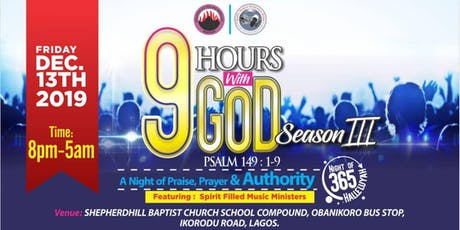 9 Hours with God tickets