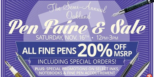 The Oakland Pen Faire & Sale