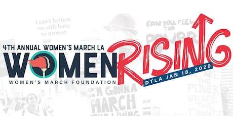 4th Annual Women's March LA: Women Rising tickets