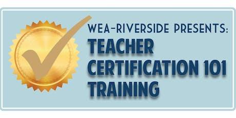 Teacher Certification 101 Training-Licensure in WA State tickets