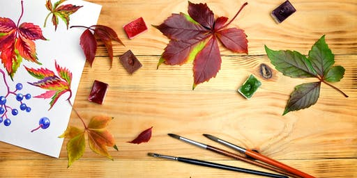 Paint Shop: Fall Watercolor Workshop - South Coast Plaza