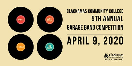 2020 Clackamas Community College Garage Band Competition
