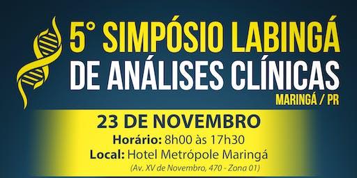 5° SIMPÓSIO LABINGÁ DE ANÁLISES CLÍNICAS - MARINGÁ/PR