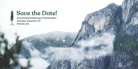 Annual General Meeting of Shareholders - Whistler BC  tickets