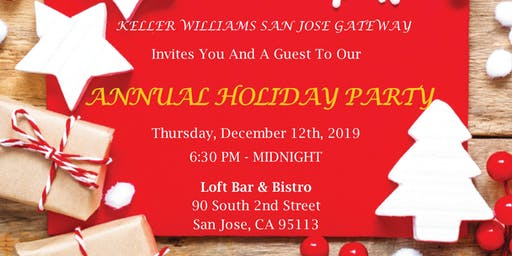 KW San Jose Gateway's Annual Holiday Party