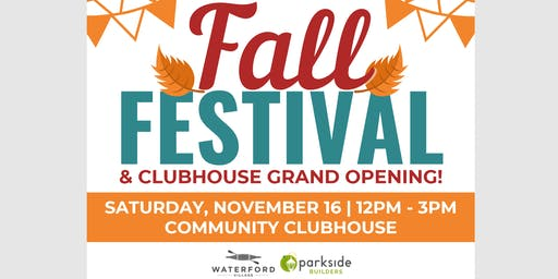 Fall Festival & Clubhouse Grand Opening