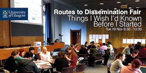 Routes to Dissemination Fair: Things I Wish I'd Known Before I Started