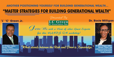 """MASTER STRATEGIES FOR BUILDING GENERATIONAL WEALTH"""
