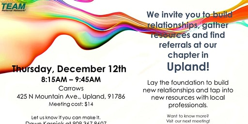 Upland Chapter Invitation Day