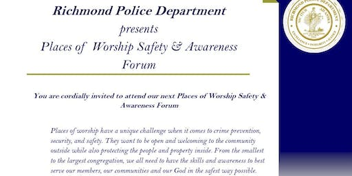 Richmond Police Places of Worship Safety & Awareness Forum