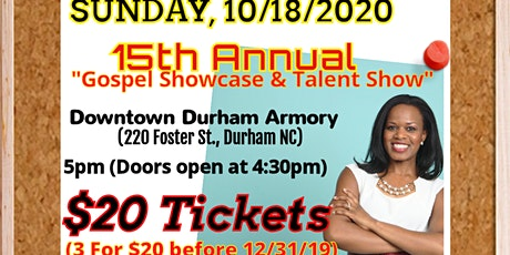 """Words of Essence's 15th Annual """"Gospel Showcase & Talent Show 2020"""" tickets"""