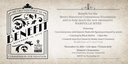 Metro Historical Commission Foundation Benefit