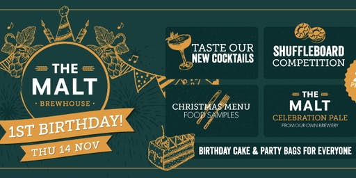 The Malt Brewhouse 1st Birthday