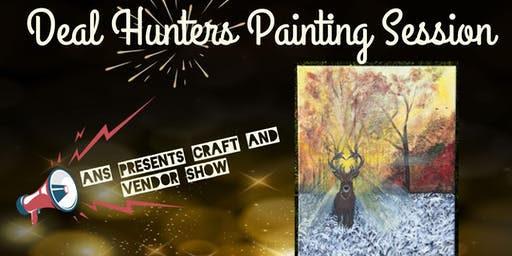 Deal hunters painting session
