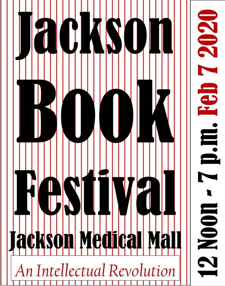 Mississippi Festivals And Events 2020.Jackson Book Festival Tickets Fri Feb 7 2020 At 12 00 Pm