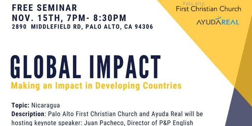 Free Seminar: Making an Impact in Developing Countries, Nicaragua