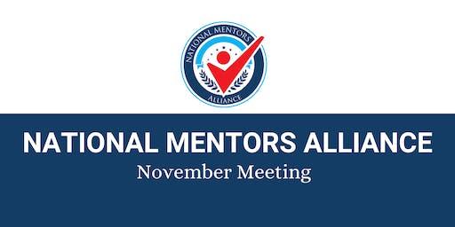 National Mentors Alliance November Meeting