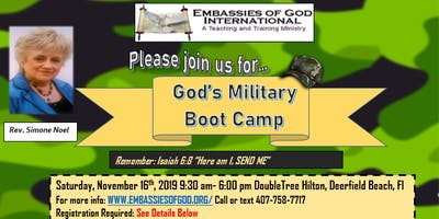 God's Military Boot Camp Training Workshop