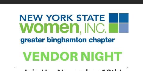 Greater Binghamton NYSW Vendor night