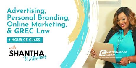 CE Class : Advertising, Personal Branding, Online Marketing, & GREC tickets