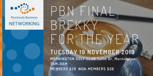 PBN Brekky - Get 2020 ready - Drive Business Growth