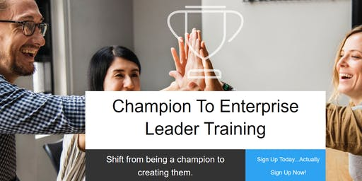 Champion to Enterprise Leader Development Program