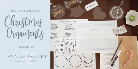 DIY Christmas Calligraphy Ornaments tickets