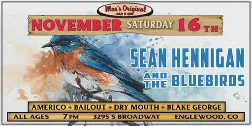 Sean Hennigan and the Bluebirds + Americo + Bailout +Dry Mouth+Blake George