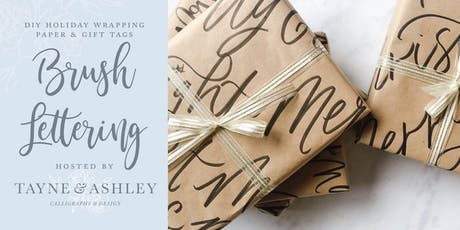 Holiday Brush Lettering - DIY Wrapping Paper & Gift Tags tickets
