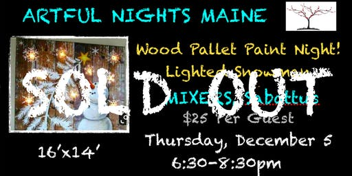 Wood Pallet Paint Night-Lighted Snowman at Mixers